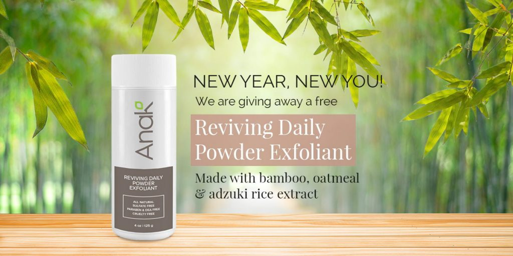 New Year New You! Skincare Exfoliant Giveaway Contest